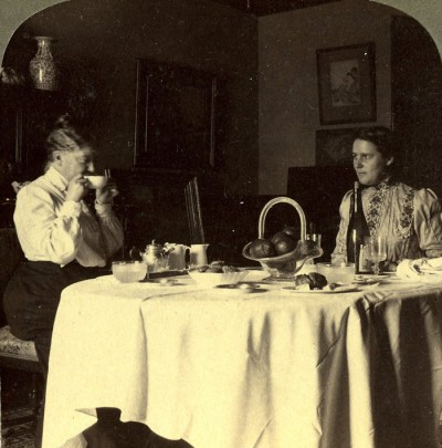 Mary Cassatt and mary Hillard at Tea