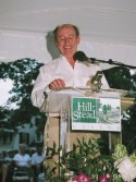Billy Collins at podium