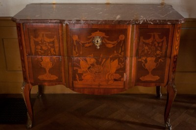 Hill-Stead Furniture French Commode Floral Urns_