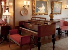 Hill-Stead Furniture Piano three quarter view horizontal