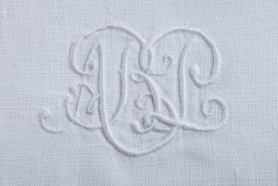 Hill-Stead Linens Utilitarian hand towels monogram