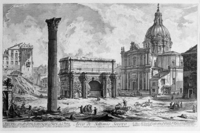 Hill-Stead Prints Piranesi Arco di Settimio Severo 2