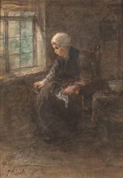 Woman in Chair by Israels