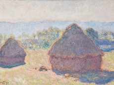 Grainstacks, Bright Sunlight, Claude Monet