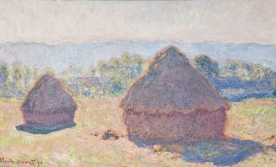Grainstacks, Bright Sunlight, Claude Monet
