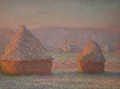Grainstacks, White Frost Effect, Claude Monet