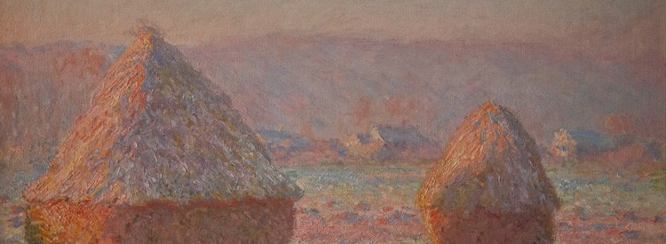 Grainstacks, White Frost Effect, Claude Monet