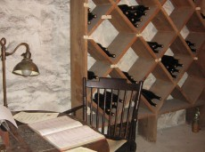 Hill-Stead wine cellar and basement