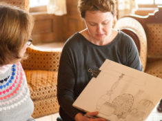 Sketching at HIll-Stead Museum