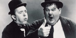 Silent movie night Laurel and Hardy